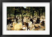 Framed Music in the Tuileries Gardens, 1862