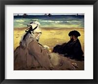 Framed On the Beach, 1873
