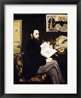 Framed Portrait of Emile Zola
