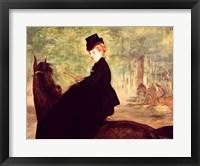 Framed Horsewoman, 1875