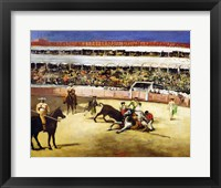 Framed Bull Fight, 1865