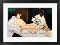 Framed Olympia, 1863