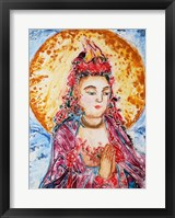 Framed Praying Buddha