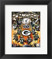 Framed Green Bay Packers Super Bowl XLV Champions Composite (Vertical)