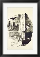 Framed Illustration for 'The Raven', by Edgar Allen Poe, 1875
