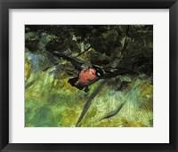 Framed Dejeuner sur l'Herbe, 1863 (bird detail)