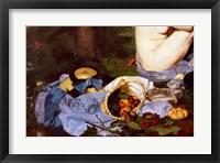 Framed Dejeuner sur l'Herbe, 1863, (fruit basket detail)