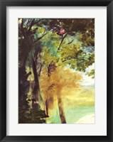 Framed Dejeuner sur l'Herbe, 1863 ( trees detail)
