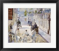Framed Rue Mosnier with Workmen, 1878