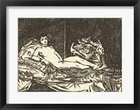 Framed Olympia, 1867