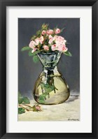 Framed Moss Roses in a Vase, 1882