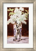 Framed White Lilac in a Crystal Vase, 1882
