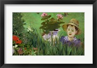 Framed Child in the Flowers