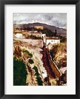Framed Oloron-Sainte-Marie, 1871