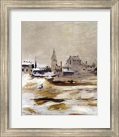 Framed Effect of Snow at Petit-Montrouge, 1870