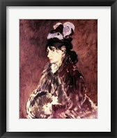 Framed Portrait of Berthe Morisot - side view