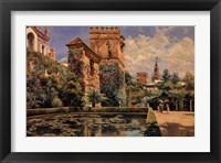 Framed Jardines del Alcazar de Sevilla