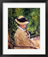 Framed Madame Manet at Bellevue