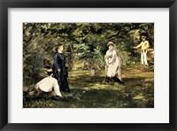 Framed Game of Croquet, 1873