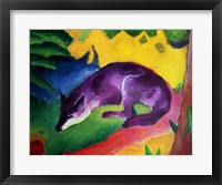 Framed Blue Fox, 1911