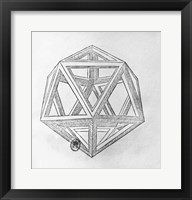 Icosahedron Framed Print