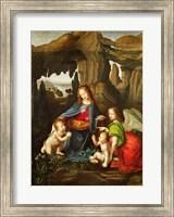 Framed Madonna of the Rocks