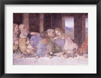 Framed Last Supper, (post restoration) C
