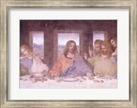 Framed Last Supper, (post restoration) D