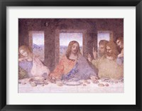 Framed Last Supper, (post restoration) D