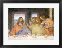 Framed Last Supper, (post restoration) A
