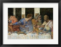 Framed Last Supper, (post restoration) E