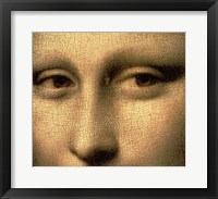 Framed Mona Lisa, Face Detail