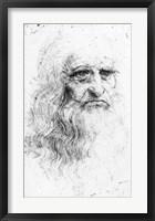 Framed Self portrait - Sketch