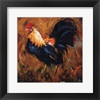 Framed Rooster #502