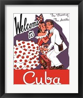 Framed Welcome to Cuba