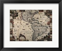Framed North and South America