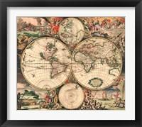 Framed World Map 1689