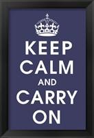 Framed Keep Calm (navy)