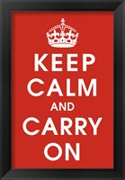Framed Keep Calm (Red)
