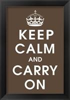 Framed Keep Calm (chocolate)