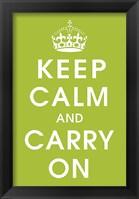Framed Keep Calm (kiwi)