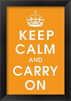 Framed Keep Calm (orange)