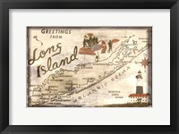 Framed Greetings from Long Island