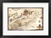 Framed Greetings from Long Island