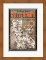 Framed Greetings from California