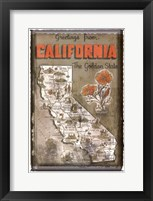 Framed Greetings from California