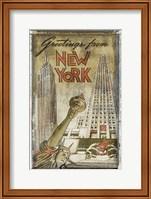 Framed Greetings from New York