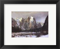 Framed Cathedral Rock Yosemite