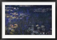 Framed Waterlilies: Green Reflections I