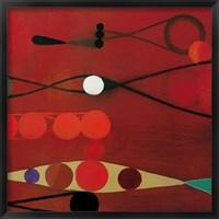 Framed Red Seed #34